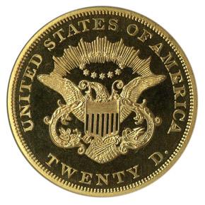 1859 $20 PF reverse