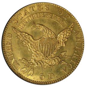 1826 $5 MS reverse