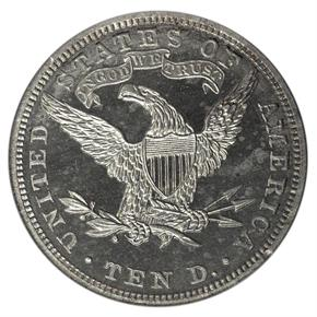 1885 J-1755 $10 PF reverse
