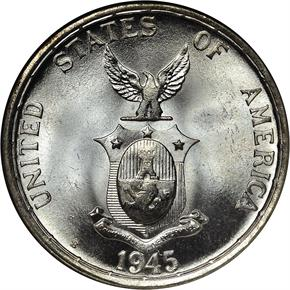 1945 S USA-PHIL 50C MS reverse