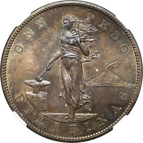 1903 USA-PHIL PESO PF obverse