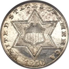 1856 3CS PF obverse