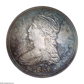 1836 REEDED 50C PF obverse