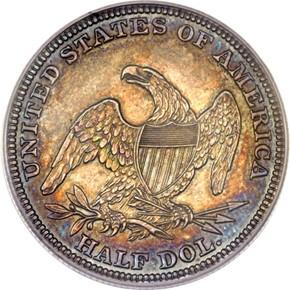 1838 O 50C PF reverse