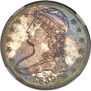 1839 O 50C PF obverse