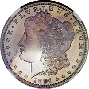 1897 S$1 PF obverse