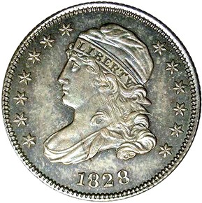 1828 SMALL DATE JR-1 10C MS obverse