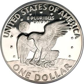 1978 S $1 PF reverse