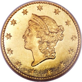 1849 SMALL HEAD NO L G$1 PF obverse