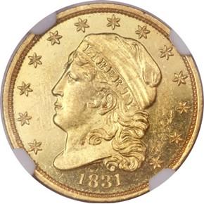 1831 $2.5 PF obverse