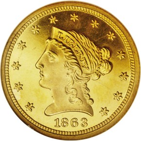 1863 $2.5 PF obverse