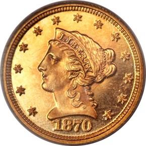 1870 $2.5 PF obverse