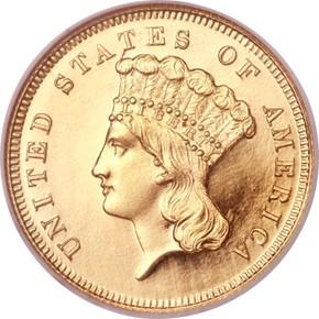1863 $3 PF obverse