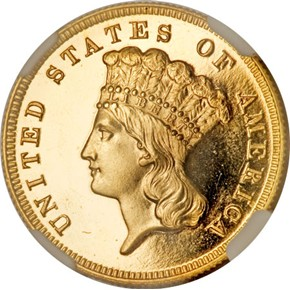 1882 $3 PF obverse
