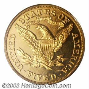 1880 $5 PF reverse