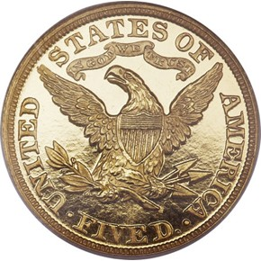 1893 $5 PF reverse