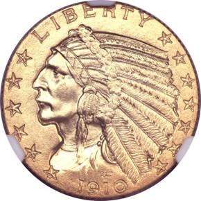 1910 $5 PF obverse