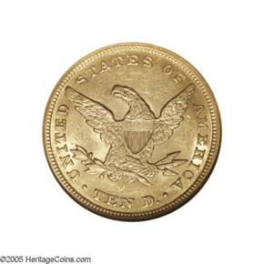 1854 O $10 MS reverse