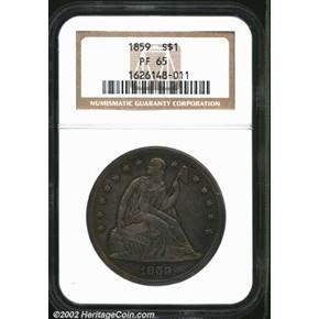 1870 $10 PF obverse