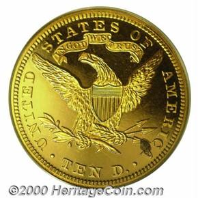 1891 $10 PF reverse