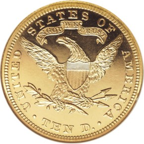 1892 $10 PF reverse