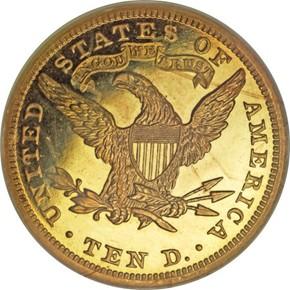 1893 $10 PF reverse