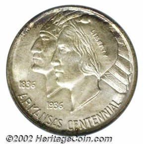 1937 ARKANSAS 50C MS obverse