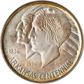 1938 ARKANSAS 50C MS obverse