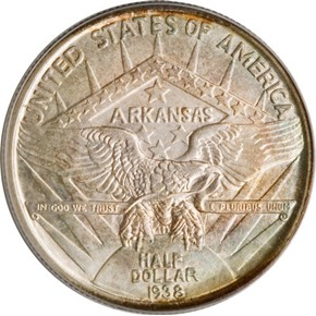 1938 ARKANSAS 50C MS reverse