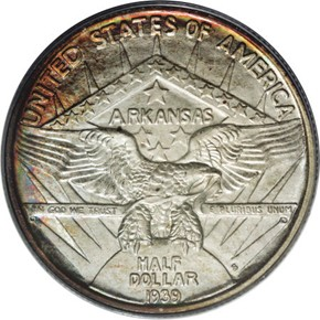 1939 S ARKANSAS 50C MS reverse