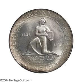 1936 CINCINNATI 50C MS reverse