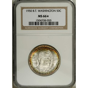 1950 B.T. WASHINGTON 50C MS obverse