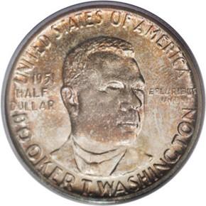 1951 B.T. WASHINGTON 50C MS obverse