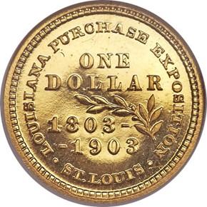 1903 JEFFERSON G$1 PF reverse