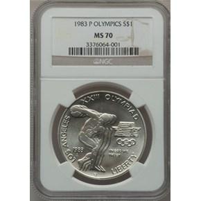 1983 P OLYMPICS S$1 MS obverse