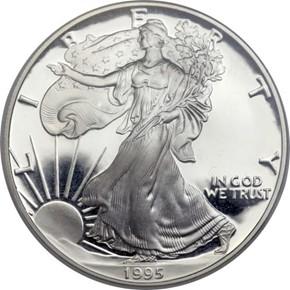 1995 W EAGLE S$1 PF obverse