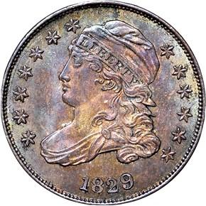 1829 10C MS obverse
