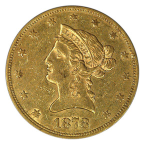 1878 S $10 MS obverse
