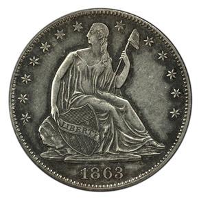 1863 J-338 50C PF obverse