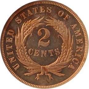 1864 J-371 2C PF reverse