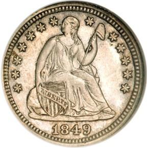 1849 J-112 3CS PF obverse