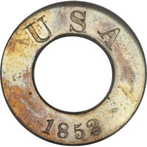 1852 J-140 G$1 PF obverse