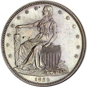 1859 J-248 50C PF obverse