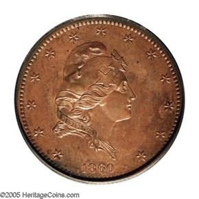 1860 J-272 $5 PF obverse