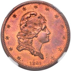 1861 J-283 $5 PF obverse