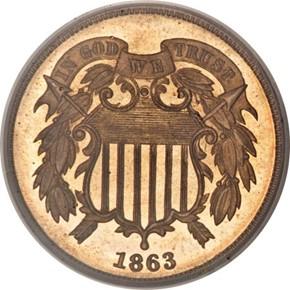 1863 J-316 2C PF obverse