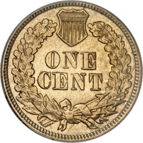 1864 J-353 1C MS reverse