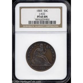 1865 J-432 50C MS obverse