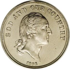 1866 J-481 5C PF obverse