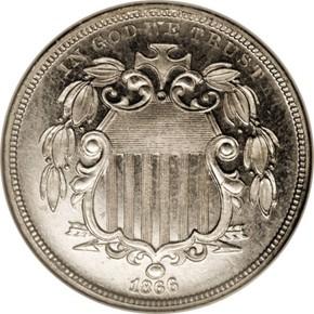 1866 J-507 5C PF obverse